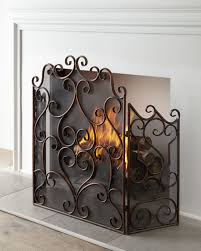 Fireplace Metal Screen by Mesh Painted Fireplace Screen Neiman Marcus