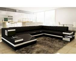 modern black and white leather sectional sofa black white bonded leather sectional sofa in modern style 44l6110