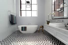 Modern Bathroom 2014 Black And White Classic Modern Bathroom With Free Standing Bathtub