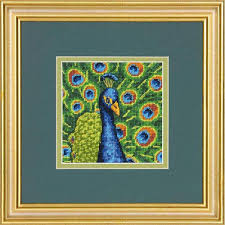 dimensions colorful peacock needlepoint kit