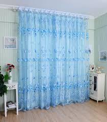 honana wx c1 1x2m tulips flower voile door curtain panel window