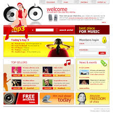 mp3 portal html website template best website templates