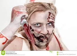 zombie nurse stock photo image 27316540