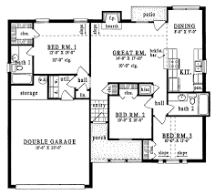 plan42 country style house plan 3 beds 2 baths 1188 sq ft plan 42 535