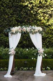 wedding draping fabric blush and white wedding arch at franciscan gardens draping fabric