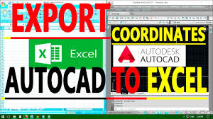 autocad tutorial with exle how to export autocad coordinates for polyline and points to ms