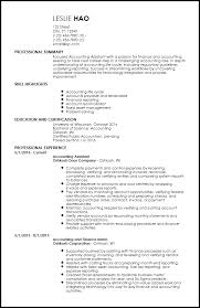 latest resume format for account assistant responsibilities free entry level accounting finance resume templates resumenow