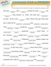 fill in the blanks story cooking worksheets and classroom