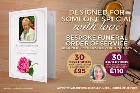 funeral stationery funeral order of service bespoke design print service