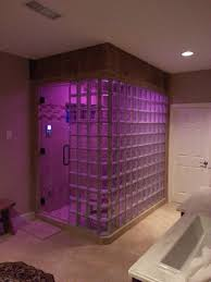 Kohler Bathroom Design Ideas by Glass Block Steam Shower With Kohler Spa Shower System With Led