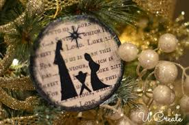 nativity ornament tutorial u create