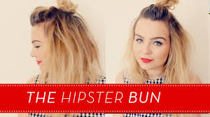 the hipster bun short hair tutorial lily melrose youtube