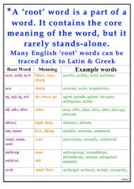what is the latin root meaning light dictionary of greek and latin roots