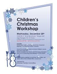 children u0027s christmas workshop wednesday 20th december u2014 bramham