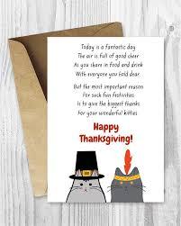 Thanksgiving Bracelet Poem Happy Thanksgiving Cat Card Printable Thanksgiving Cards