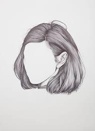 sketches of hair drawn artistic long hair pencil and in color drawn artistic long