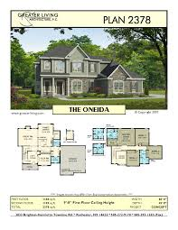 plan 2378 the oneida house plans two story house plans 2