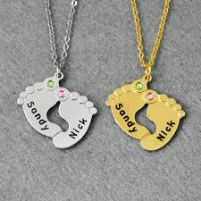 customized baby jewelry customized baby necklace birthstone necklace personalized