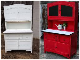 1930 Kitchen Cabinets Red Hoosier Cabinet Revamp U2013 Funcycled