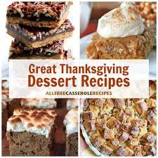 18 great thanksgiving dessert recipes allfreecasserolerecipes