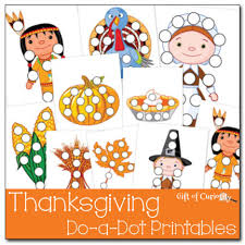 preschool worksheets thanksgiving do a dot printables