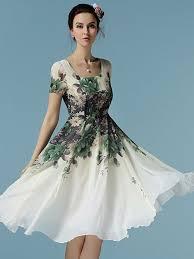 aliexpress com buy women dress a line short knee length short