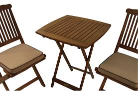 amazon com outdoor interiors eucalyptus 3 piece square bistro