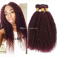 human hair extensions uk cheap wine 99j afro curly hair extension for woman