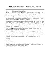 Application Letter Inside Address Email Cover Letter Examples For Resume