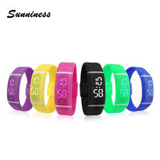 mens bracelet digital images Smart wrist watch 1 pc mens womens rubber led watch date sports jpg