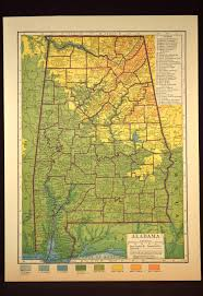 Map Alabama Alabama Map Alabama Topographic Map Colorful Colored Topo Map