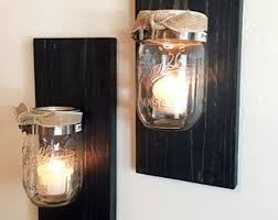 Rustic Candle Sconce Wall Mounted Candle Holders Air Dry Clay Wall Mounted Candle