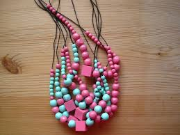 wood beads necklace designs images Painted wooden bead necklaces part deux jpg
