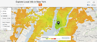 commute map maps mania trulia s commute maps