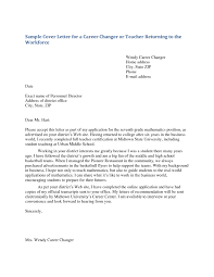 sample cover letter for teachers with no experience teacher