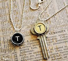 gem key necklace images Recycle old typewriter keys into jewelry the beading gem 39 s journal jpg