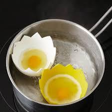 cuisine oeuf les 2 pocheuses à œufs coquille ustensiles oeuf et beurre