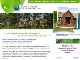 florida green building coalition honors top 15 home builders