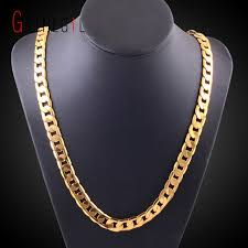 curb link chain necklace images Gnimegil miami cuban link chain necklace 10mm 20 quot gold color curb jpg