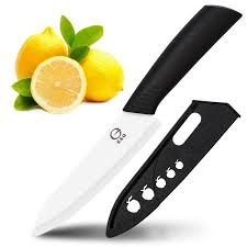 ceramic chef knife e u0026q 6 inch cutlery kitchen knife with sheath