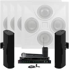 Wireless Speakers In Ceiling by Room Sound System With 4 Ceiling Speaker Arrays 2 Community Line
