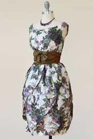 vintage cocktail vavoom mad men 1960s tulip hem vintage cocktail dress floral