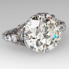 mine cut engagement ring stylish mine cut rings european cut ring 6