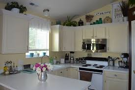 Space Above Kitchen Cabinets Ideas Space Above Kitchen Cabinets Excellent How To Decorate Small