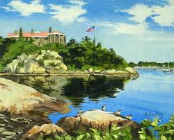 Rhode Island Landscapes images Beacon rock brenton cove newport rhode island painting by jpg