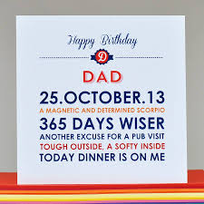 dad card ideas personalised u0027dad u0027 birthday card by come for a dream