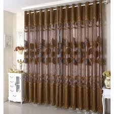Curtains On Sale Brown Peacock Embroidery Vintage Curtains For Sale