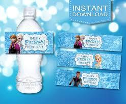 sale frozen birthday stickers frozen water by pixelperfectshoppe