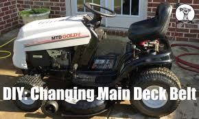 diy how to change the main deck belt on mtd gold lawn mower