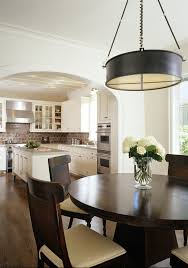 round dining tables kitchen transitional with white kitchen island